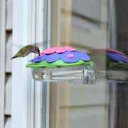 So Real Purple Window Hummingbird Feeder