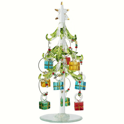 Glass Tree w/Gift Wine Charms 7.5 inch