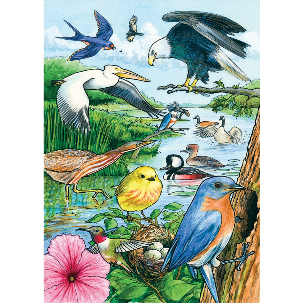 North American Birds 35 Piece Tray Puzzle