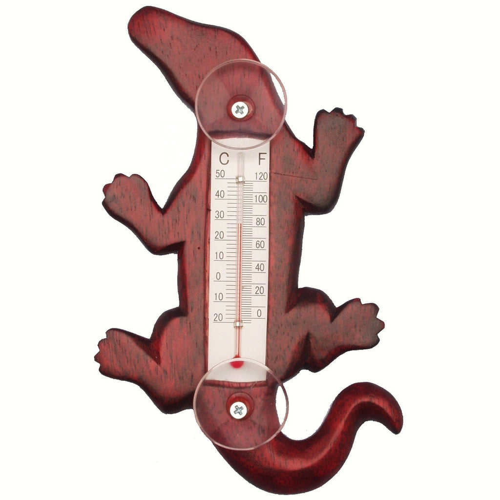 Stained Alligator Window Thermometer Small - Momma's Home Store
