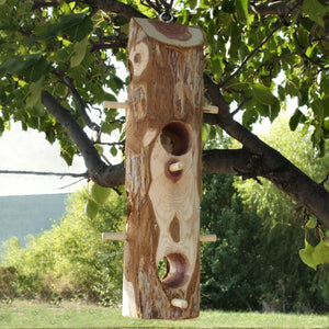 Cedar Suet Log Feeder w/8 Perches