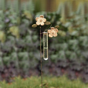 Apple Blossom Staked Rain Gauge