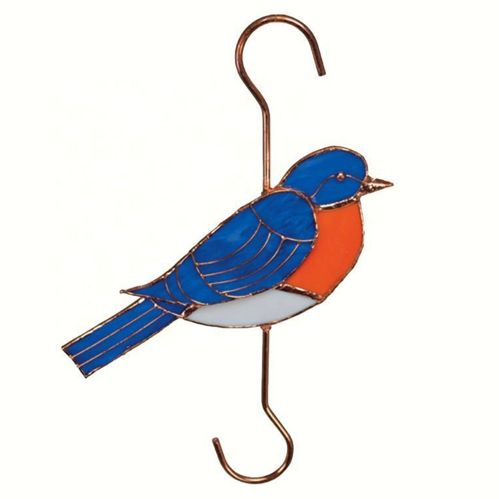Bluebird Stained Glass Hanging Hook