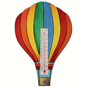 Hot Air Balloon 2 Window Thermometer Small