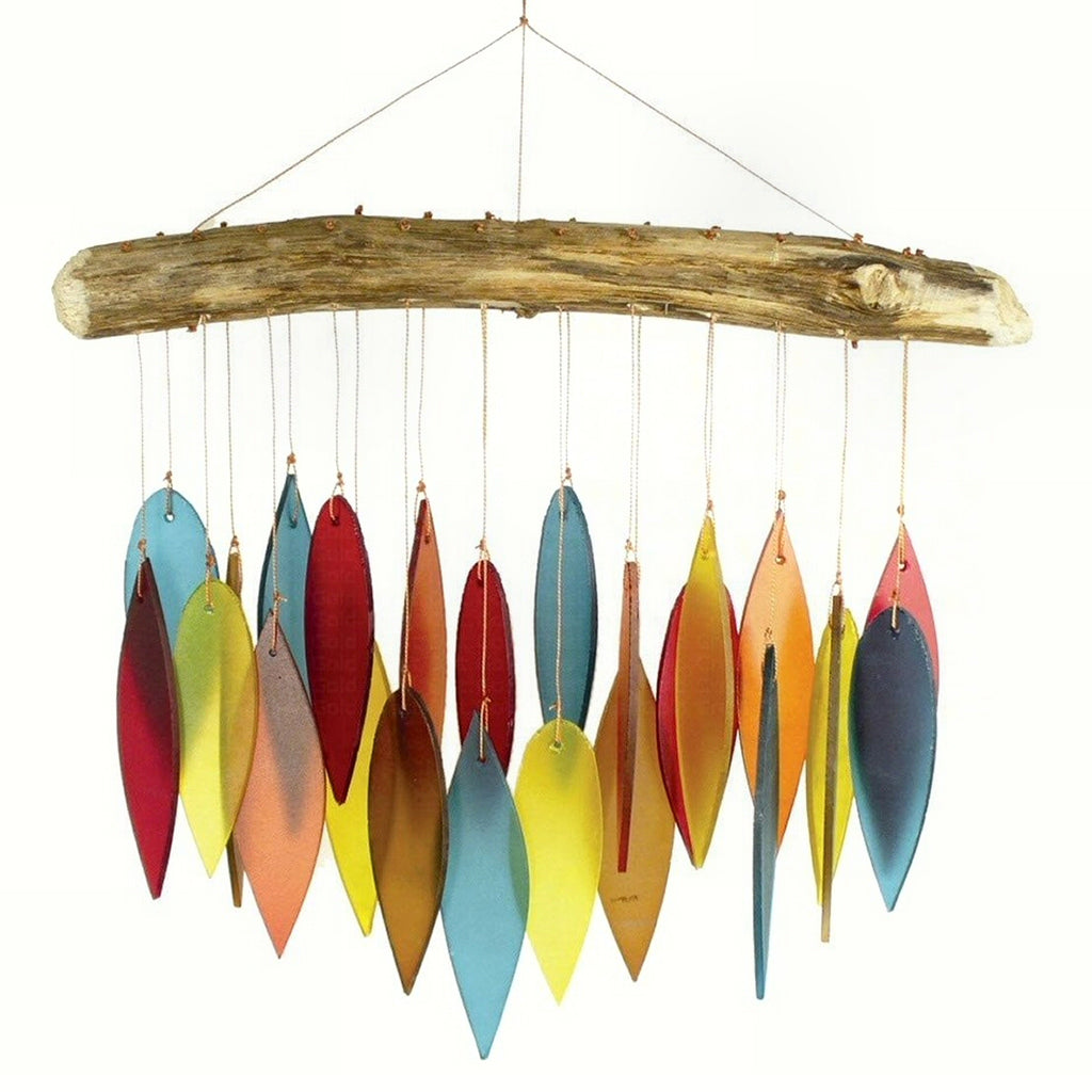 Santa Fe Leaves Glass Wind Chime