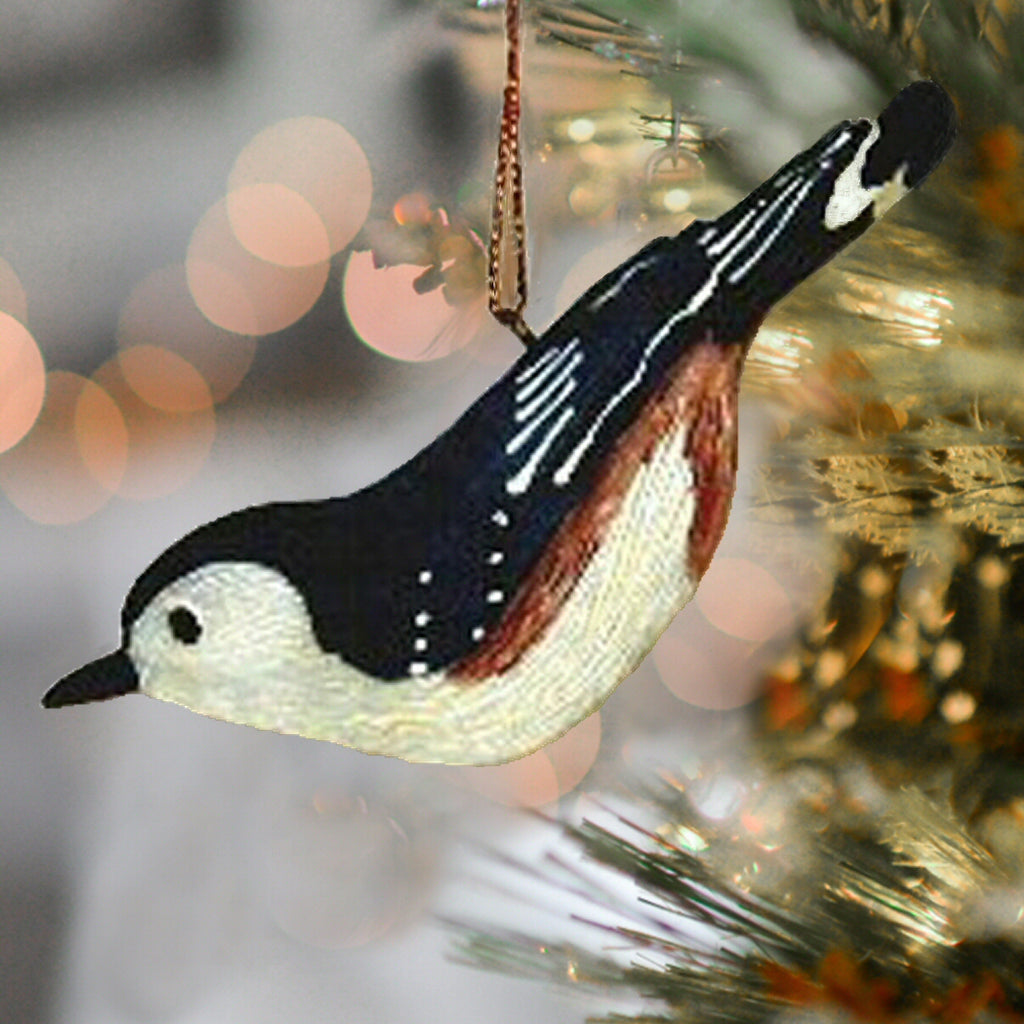 Nuthatch Songbird Tree Ornament