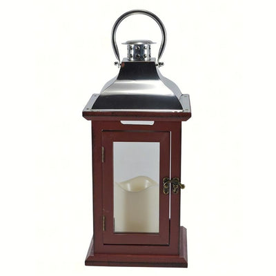 Red LED Carriage Lantern 13 inch