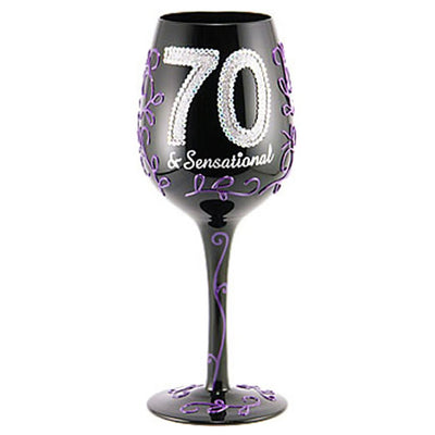 Birthday 70 & Sensational Wineglass