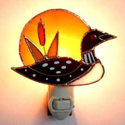 Loon Stained Glass Night Light