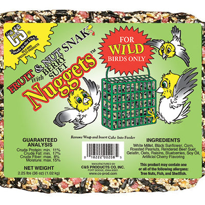 Fruit & Nut Snak Suet Nuggets 2.25 lb