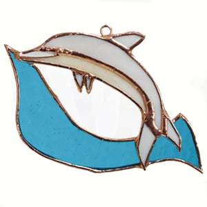 Dolphin Stained Glass Suncatcher
