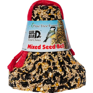 Mixed Hanging Bird Seed Bell 16 oz