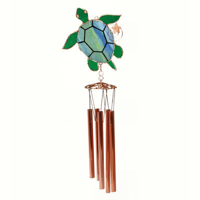 Sea Turtle Stained Glass Wind Chime