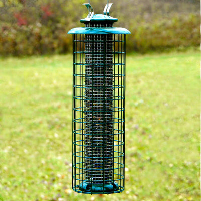 Caged Screen Tube Bird Feeder