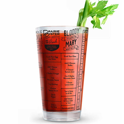 Hangover Recipe Measuring Glass 16 oz