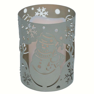 Flameless Snowman LED Candle