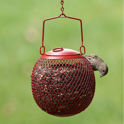 Seed Ball Red Mesh Bird Feeder