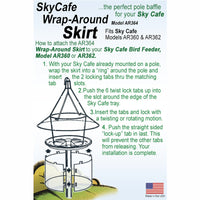 Sky Cafe Feeder Squirrel Guard Accessory - Momma's Home Store