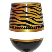 Deco Tiger Stemless Wineglass