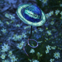 Illuminarie Saturn Gazing Ball Garden Stake