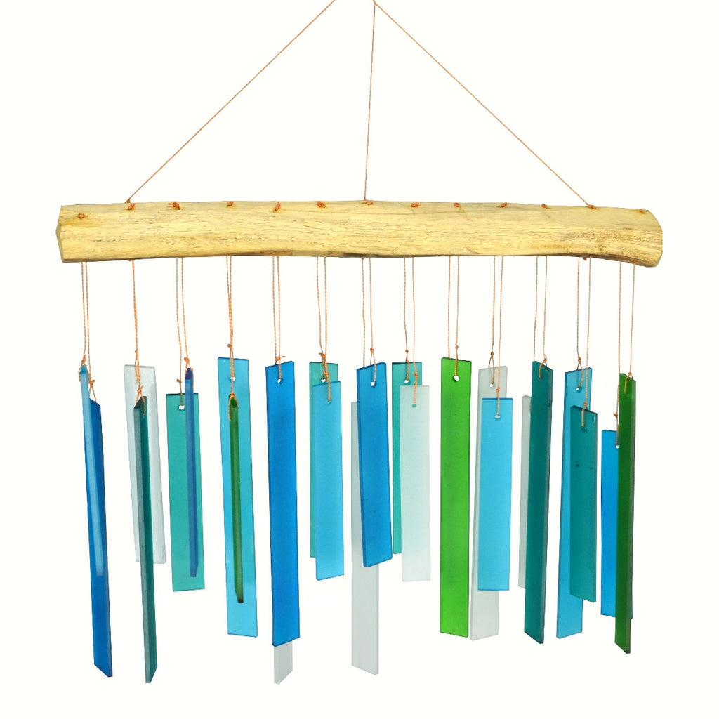 Ocean Glass & Driftwood Wind Chime