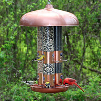 Copper Finish Triple Tube bird Feeder