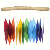 Rainbow Leaves Glass Wind Chime - Momma's Home Store