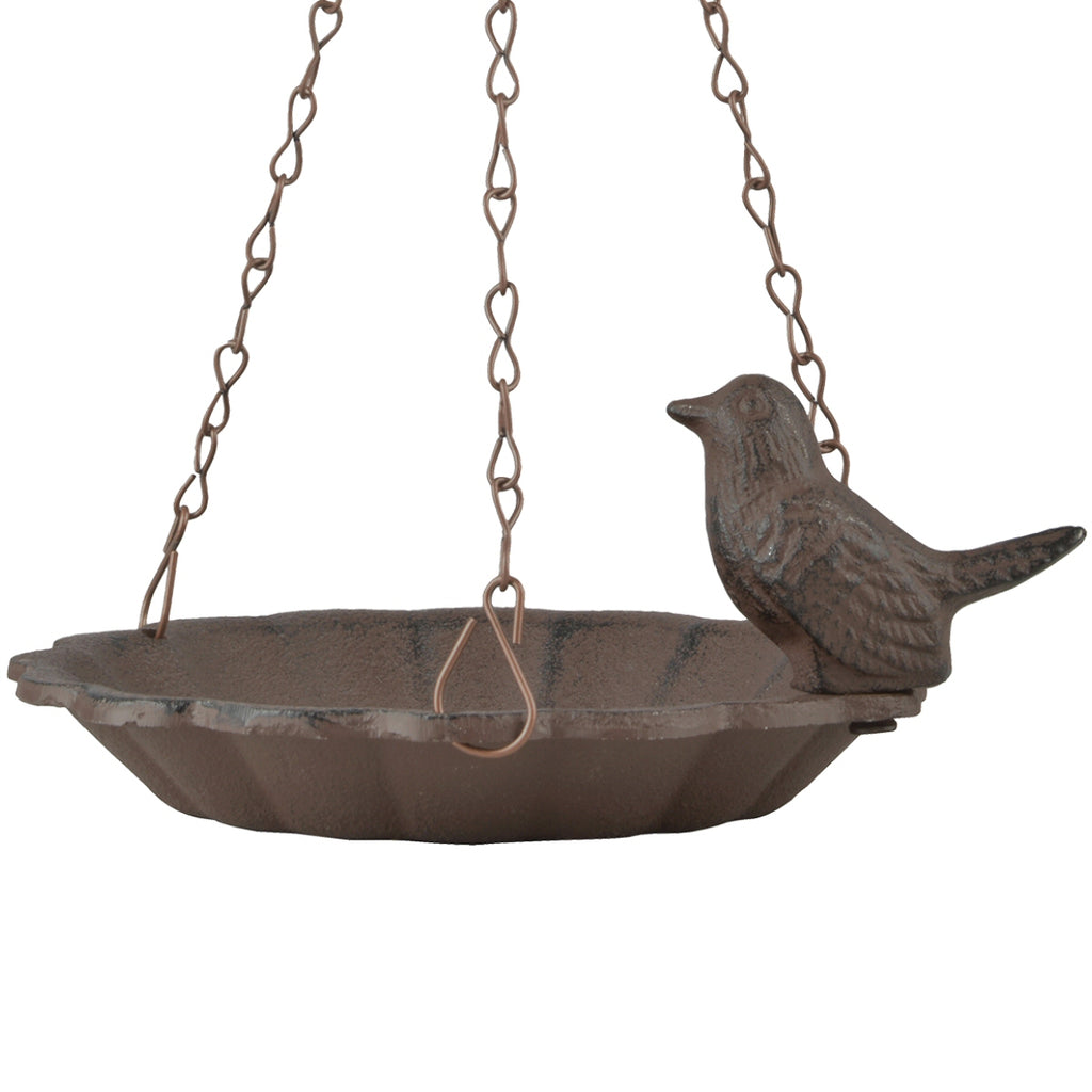 Cast Iron Hanging Bird Bath 6.5 inch
