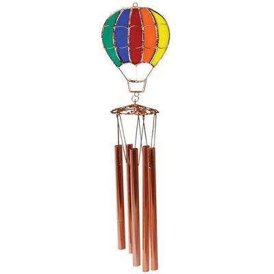 Rainbow Balloon Stained Glass Wind Chime