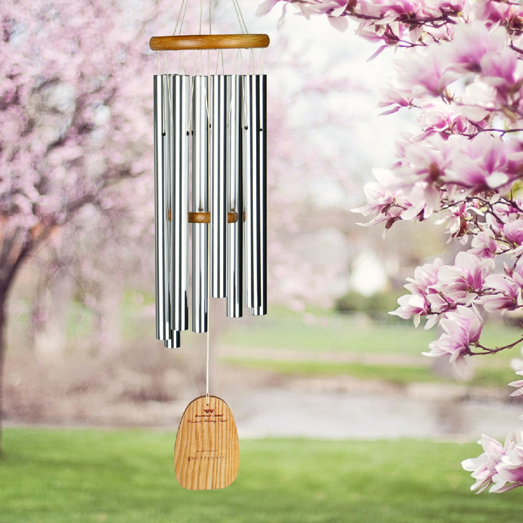Silver Wedding Wind Chime Large