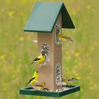 Recycled Tube Bird Feeder w/Seed Tray