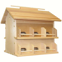 Cedar Starling Resistant Purple Martin House - 12 Room