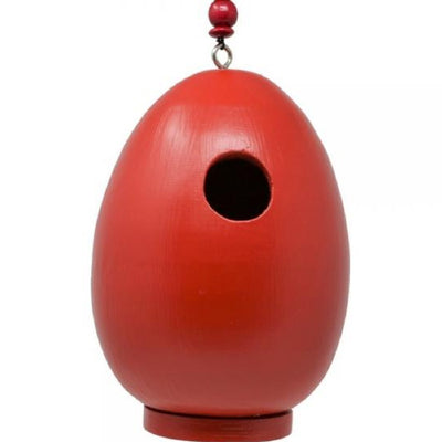 Giant Red Egg Wooden Birdhouse