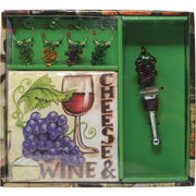 Grapes Stopper & Charms Gift Set