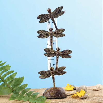 Brass Dragonflies Tabletop Rain Gauge - Momma's Home Store