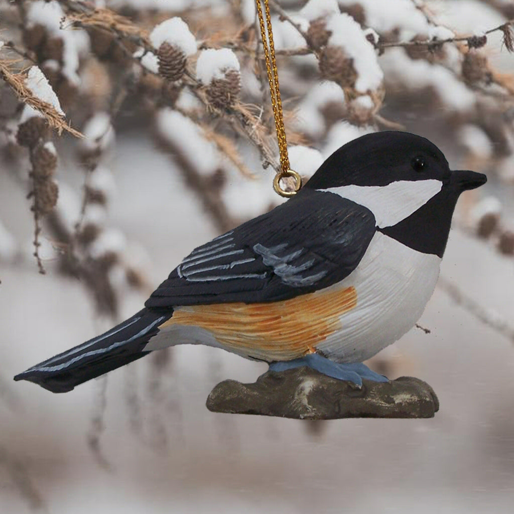 Black Capped Chickadee Tree Ornament