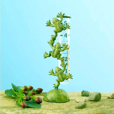 Brass Frogs Tabletop Rain Gauge - Momma's Home Store