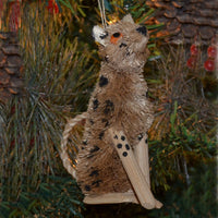 Cheetah Bristle Brush Ornament