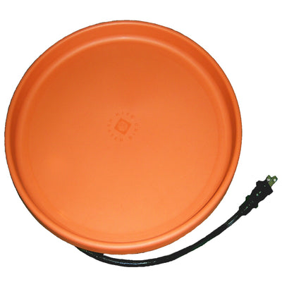 Heated Bird Bath Pan Clay 14 inch