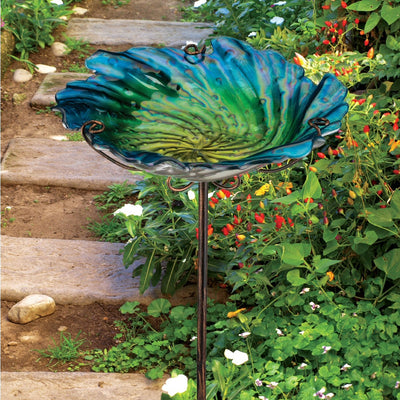 Birdbath/Bird Feeder Ground Stake - Blue