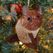 Kitten Siamese Bristle Brush Ornament