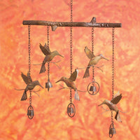 Hummingbirds w/Bells Flamed Wind Chime