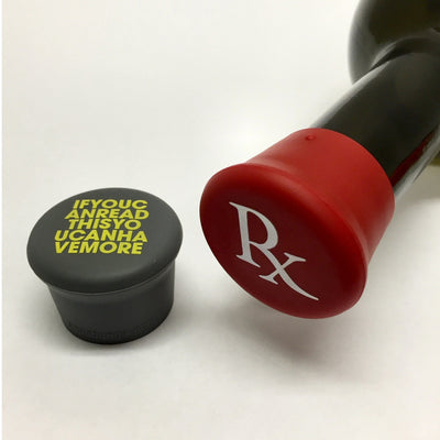 Read This & RX Silicone Wine Bottle Caps