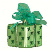 Gift Square Shamrocks Christmas Ornament