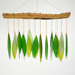 Spring Leaves & Driftwood Glass Chime