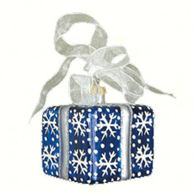 Gift Square Snowflakes Christmas Ornament
