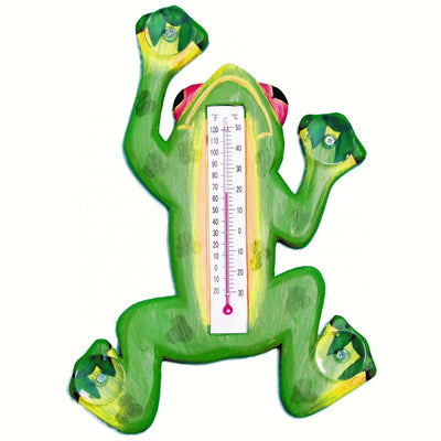 Climbing Frog Window Thermometer Small
