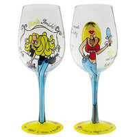 Bleach Blonde Wineglass