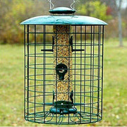 Caged 6 Port Seed Tube Bird Feeder