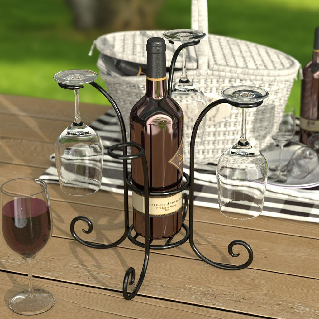 Wineglasses and Bottle Caddy